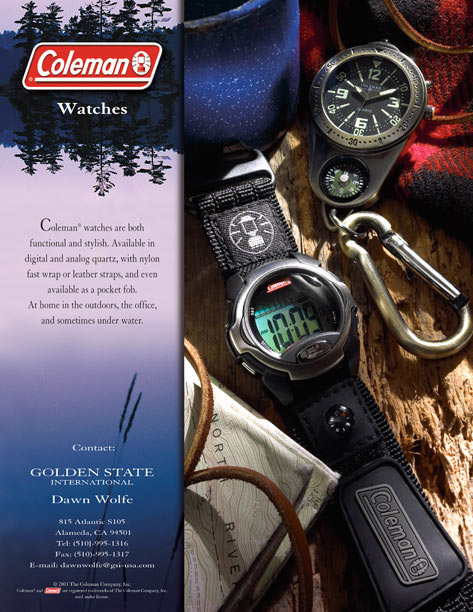 Coleman Watch ad